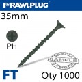 DRYWALL SCREW COARSE THREAD 35MM FOR TIMBER BOX OF 1000